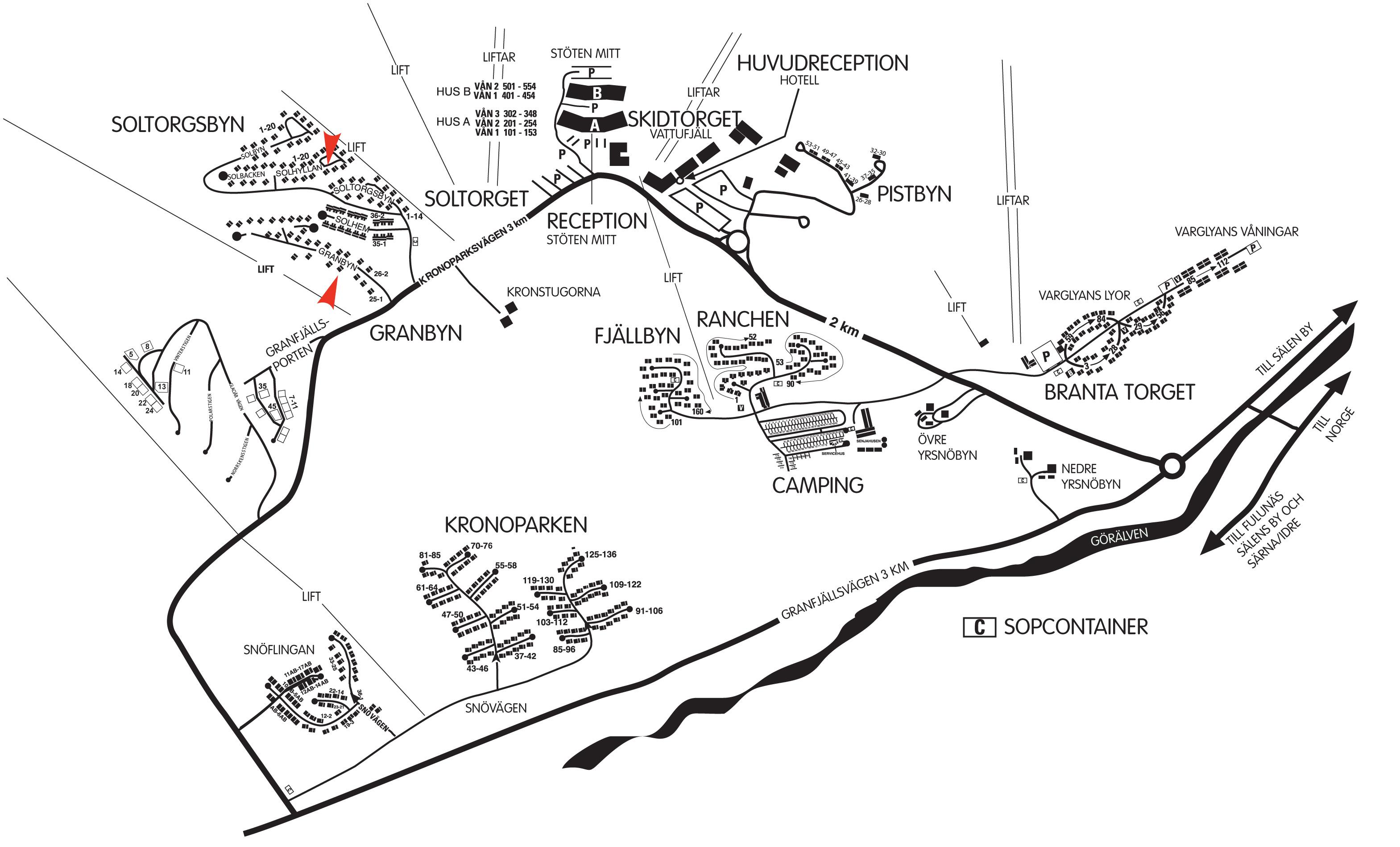stöten karta Hitta hit   Exklusiva och prisvärda stugor i Sälens bästa skid  stöten karta